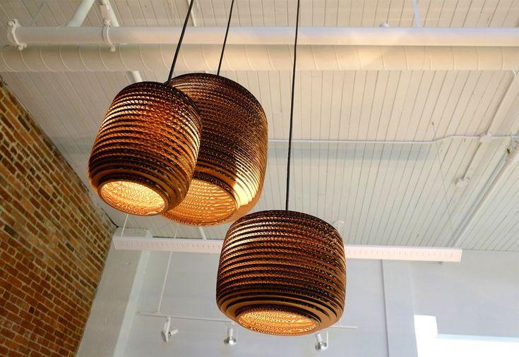 #Graypants #Ausi #hanglamp #karton #gerecycled #papier #design #interieur #kantoor #horeca #restaurant #decoratie #verlichting