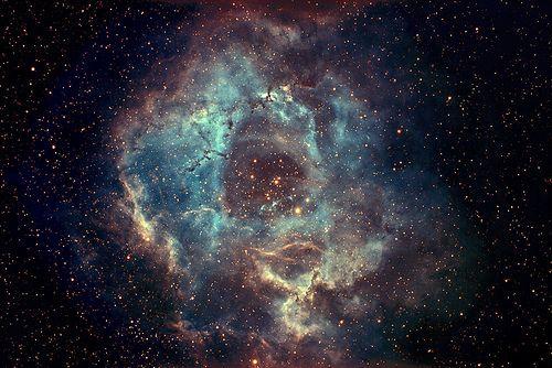 "Rosette Nebula ""Narrow Band"" by John Castillo, via Flickr"