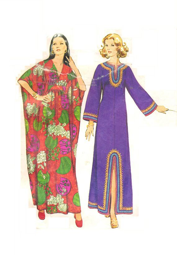 OH MY GOSH!!! The MOO-MOO---  Named so by my Granny and my mom.  They used to wear these all over the house.  This is a 70s vintage pattern called the Caftan.  Now, present day, still called the caftan HAHA.