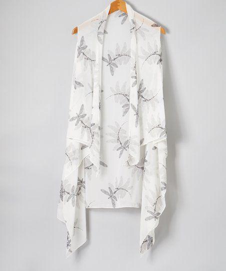 c18d669e4f LVS Collections | White & Black Drape-Front Vest - Women | SHOP ...
