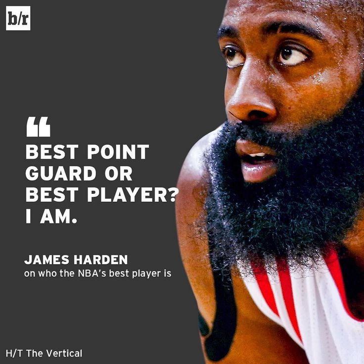 No doubt in James Harden's mind. Bleacher Report.