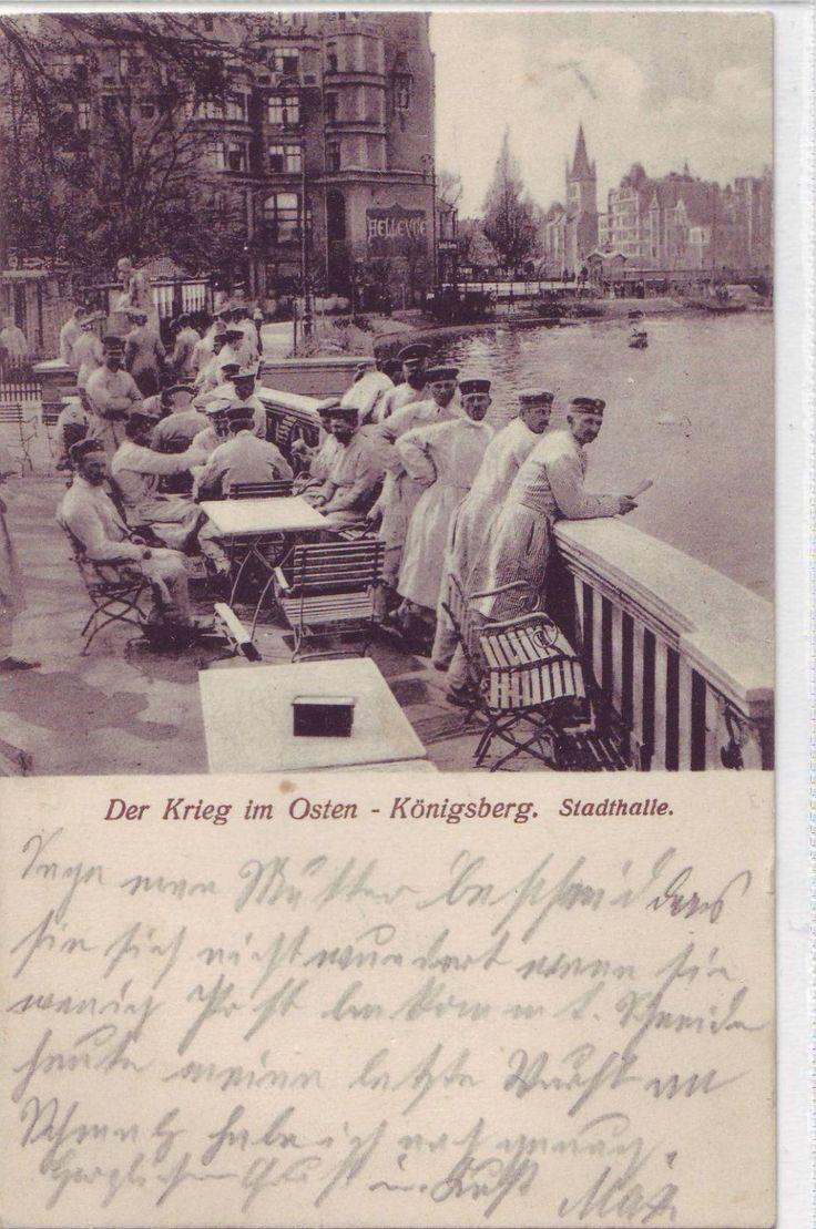 Königsberg, Der Krieg im Osten, Stadthalle - Lazaret, Schloßteich.
