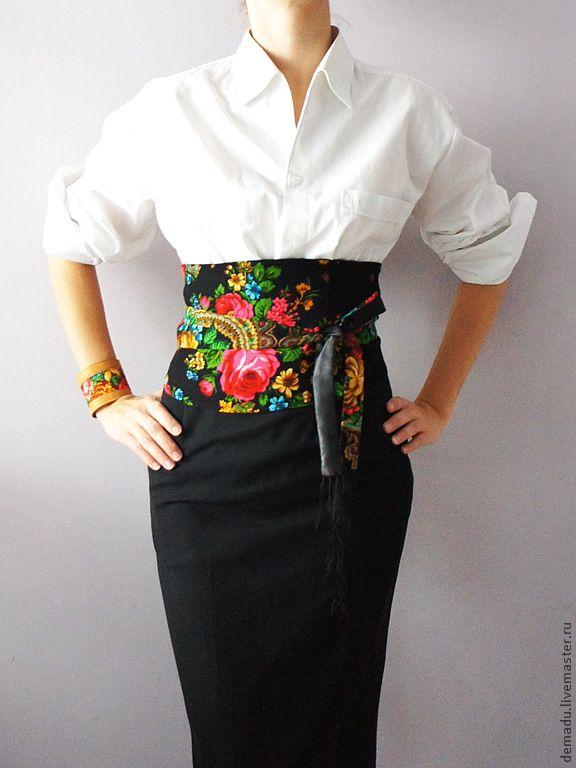 """Пояса, ремни ручной работы. Ярмарка Мастеров - ручная работа Пояс-кимоно """"A la RUS!"""". Handmade."""