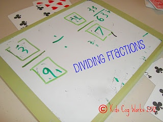 The Tutor House: Dividing Fractions Card Game