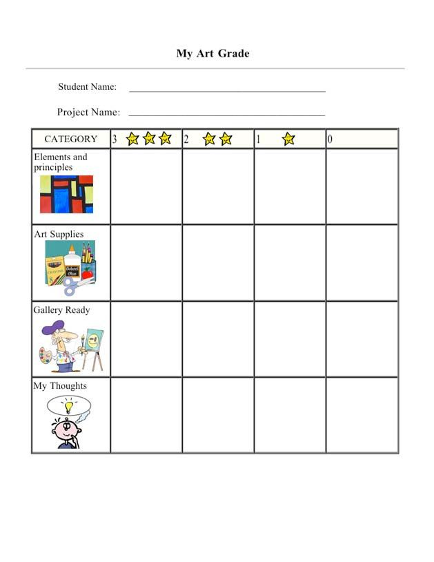 Character Design Rubric : West haven public schools art rubric crafts for kids