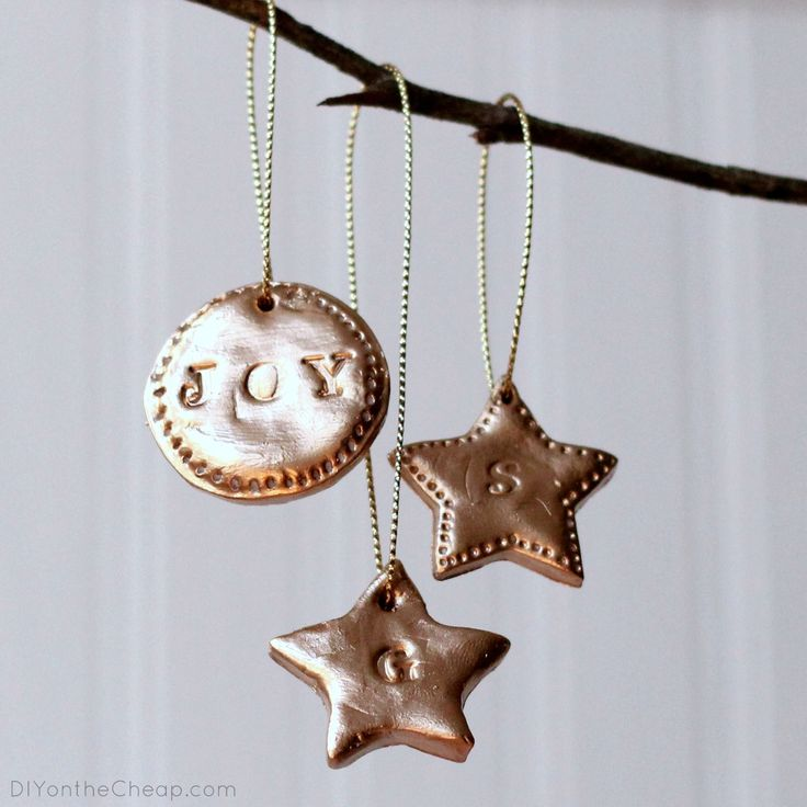 DIY Hand-Stamped Clay Ornaments
