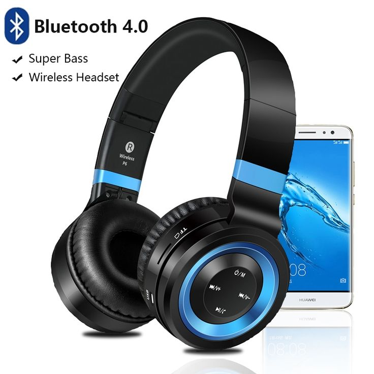 27.21$  Watch now  - High Quality Headphones for Huawei P9 lite Mate 9 Headset with Mic TF Card Wireless Headphone Bluetooth Headset for Computer
