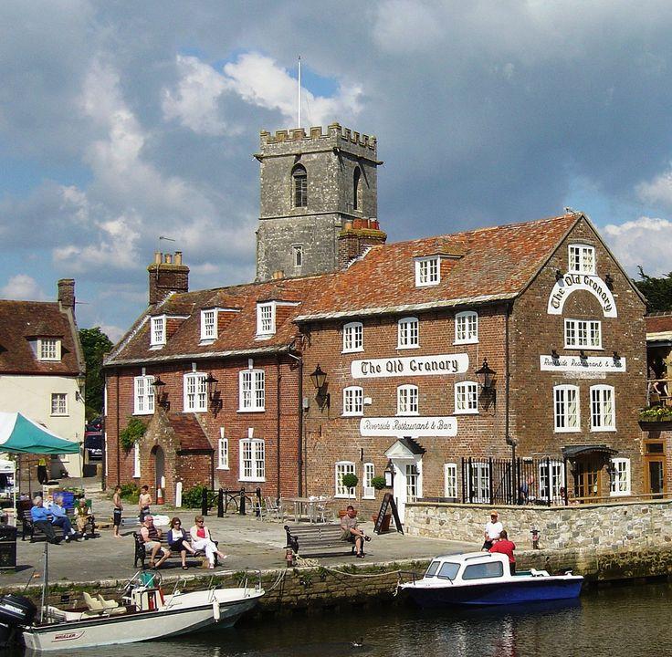 The Church of Lady Saint Mary and the Old Granary, Wareham, Dorset, England_ UK