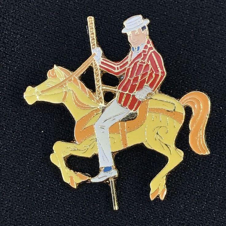 Disney 30th Anniversary Bert Carousel Horse Pin From Movie Mary Poppins 1994 #Disney