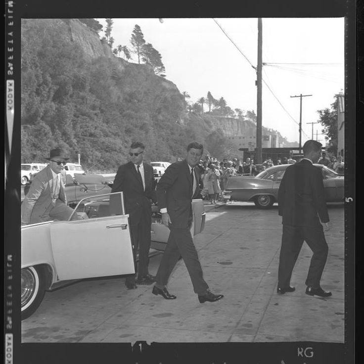 How's this pic for President's Day?    President Kennedy exiting from a convertible to Peter Lawford's beach home in Santa Monica to spend some time in the sun.   Los Angeles Times, November 20, 1961