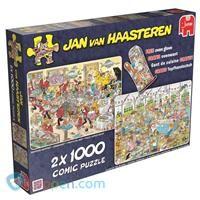 Puzzel JvH: Eet- en bakfestijn 2x 1000 stukjes -  Koppen.com