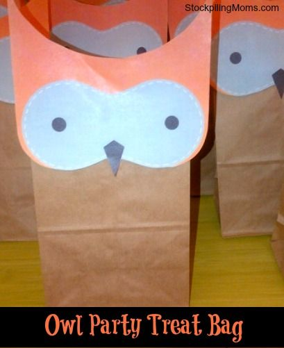 Love this DIY Owl Party Treat Bag