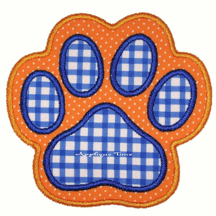 Instant Download Paw Print Machine Embroidery Applique
