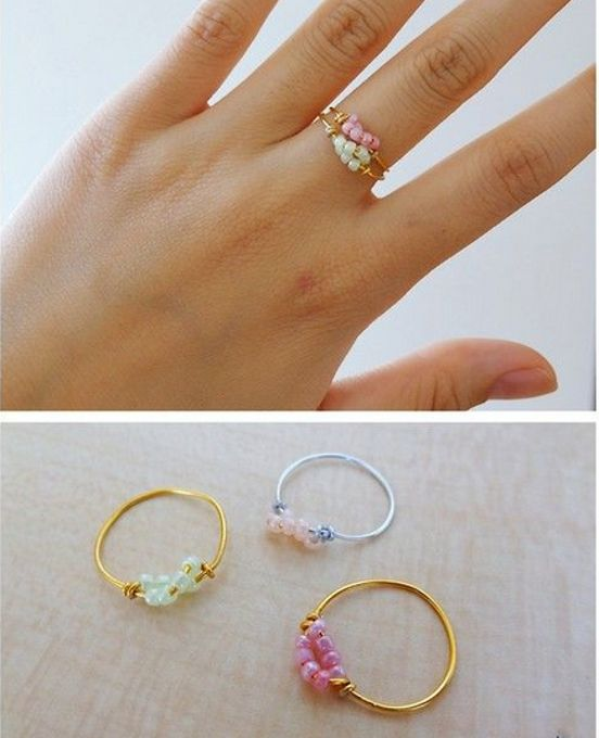 Easy DIY Ring made by Nancy Baquet from LC.Pandahall.com