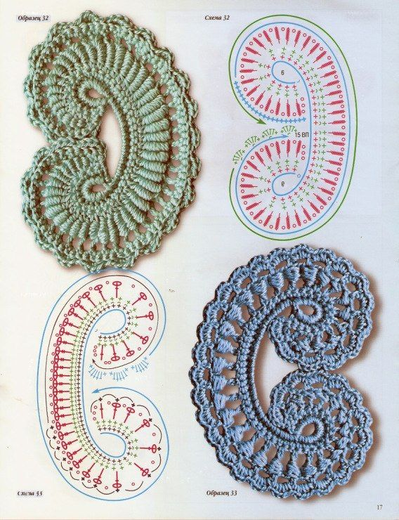 Crochet Irish Motif - Chart ❥ 4U // hf