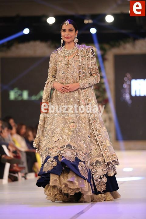 #Elan presenting  bridal collection in #pakistanBridalWeek pinned by #SidraYounas