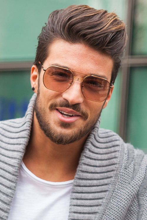 men's short comb over hairstyle
