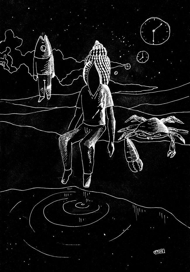 Blanco sobre Negro - White on Black - Federico Abuyé - Ilustración - Illustration - Arte - Arts