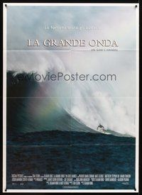 1z460 IN GOD'S HANDS Italian 1p '99 Zalman king surfing movie, cool image of surfer on giant wave!