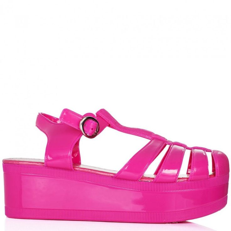 NEW IN :: Love Hawaii Pink Platform Jelly Shoes