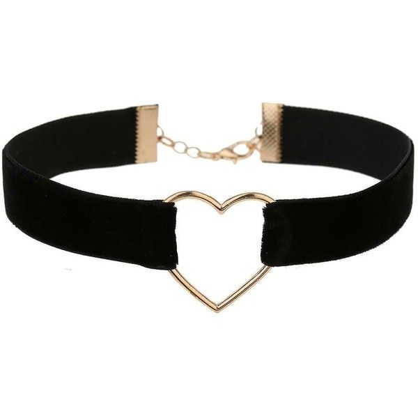 Miss Selfridge Black Heart Choker ($13) ❤ liked on Polyvore featuring jewelry, necklaces, black, choker necklace, heart shaped jewelry, heart choker necklace, heart jewelry and metal necklace