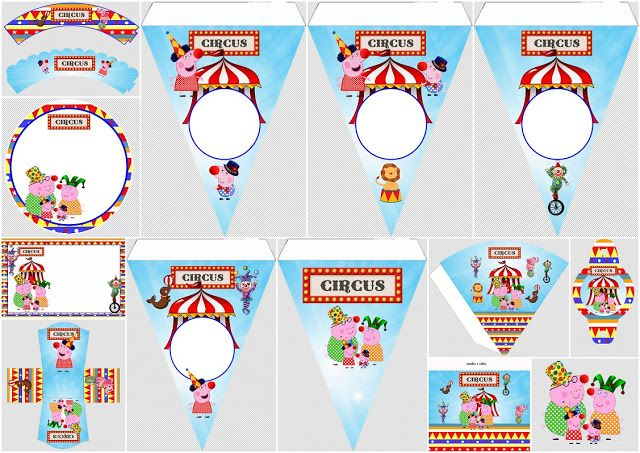 Peppa Pig en el Circo: Kit para Imprimir Gratis.