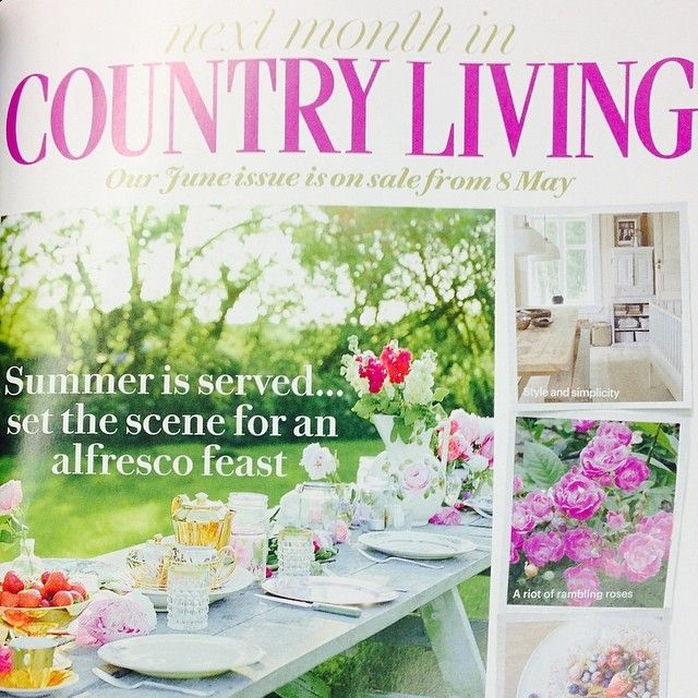 Selina Lake Outdoor Living is due to be featured in the June 2014 issue of Country Living UK Magazine