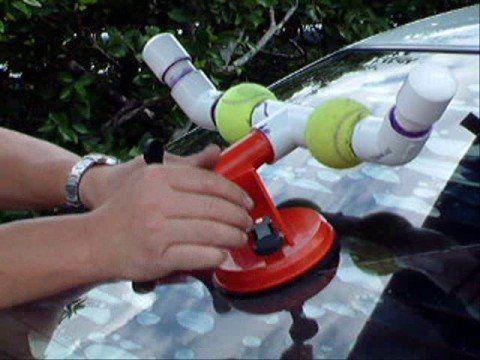 Do you Kayak!? I made this so I could get my Kayak on the roof of my vehicle alone and easily! P.V.C, tennis balls and set of inexpensive suction cups.  (not available from Harbor Freight anymore but you can get them here http://www.northerntool.com Item#160876 for $15)