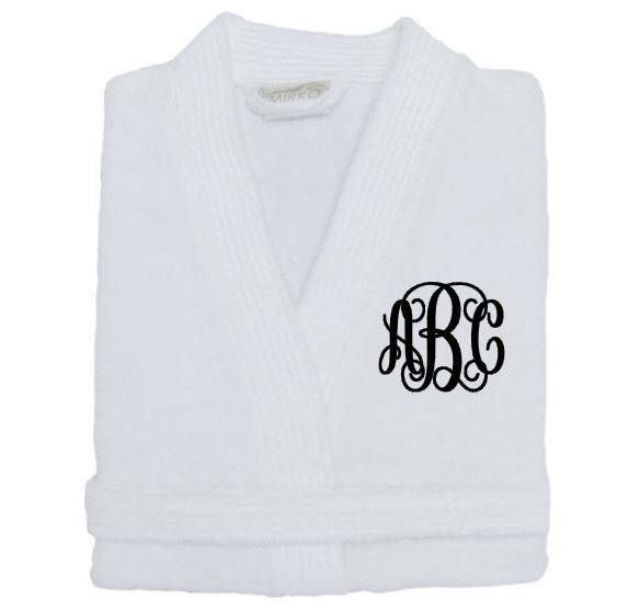 Monogrammed Bath Robe, His and Hers Robes, Men's robes, Women's Robes, Mother's Day Gifts, Bridesmaids Robe, Bridal Shower Gift, Bridal Gift by TheLittleReasons on Etsy