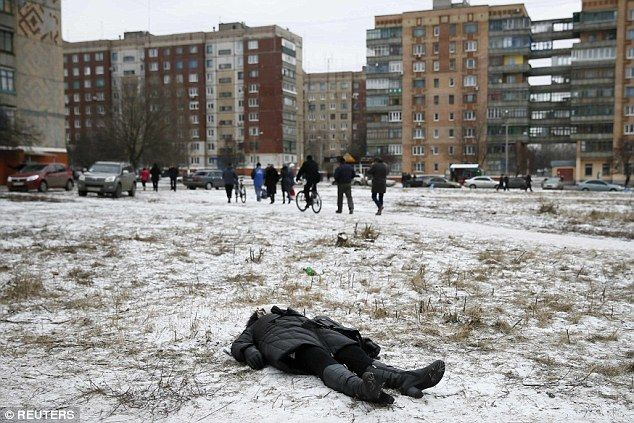 Casual killing:Kramatorsk yesterday. As the Kremlin-backed separatists push further west ...