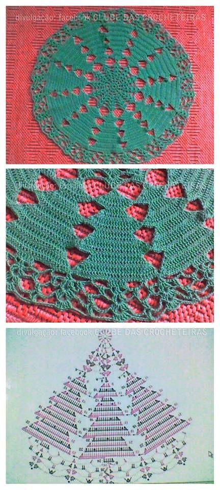 centro natalizio con abeti - da fb