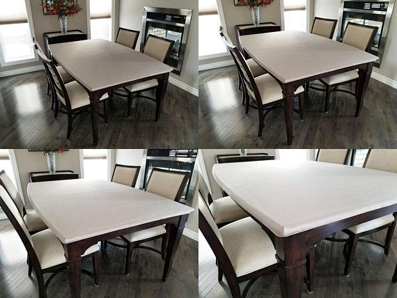 Protector Tablecloth Fitted Microfiber Dining Table Cover