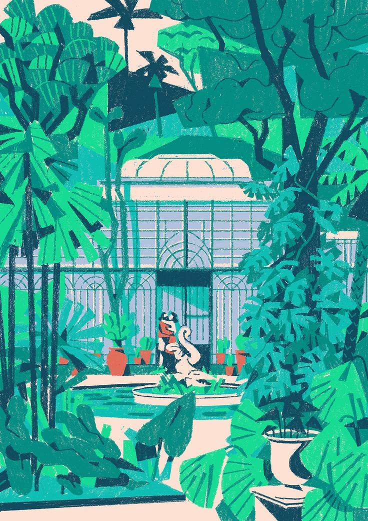 MATTEO BERTON - The botanic garden of Palermo! From a series of illustration for Timberland!