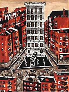 Harlem Jacob Lawrence, 1946. Watercolor on paper,