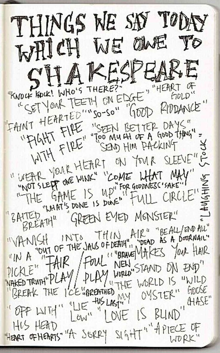 53 best images about Say It Shakespeare Style! on Pinterest ...