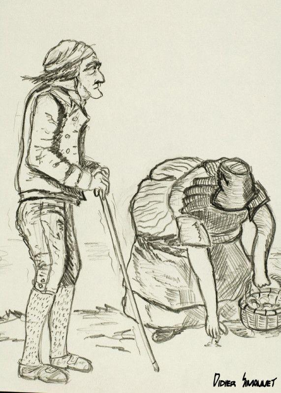 Enterrement paysan NICOLAS ANDRÉ 1772 – 1832 Lorsque son père décède prématurément à l'age de 48 ans, Nicolas n'a que 9 ans. En cet hiver glacial de 1782, une épidémie de grippe frappe la France d'...