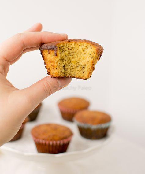Paleo citroenmuffins met maanzaad. Sappig, fris, HEERLIJK!