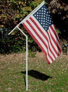 Heavy Duty Rotating Flag Pole w/ American Flag