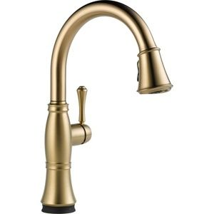 Delta Faucet D9197TCZDST Cassidy Pull-Out Spray Kitchen Faucet - Champagne Bronze