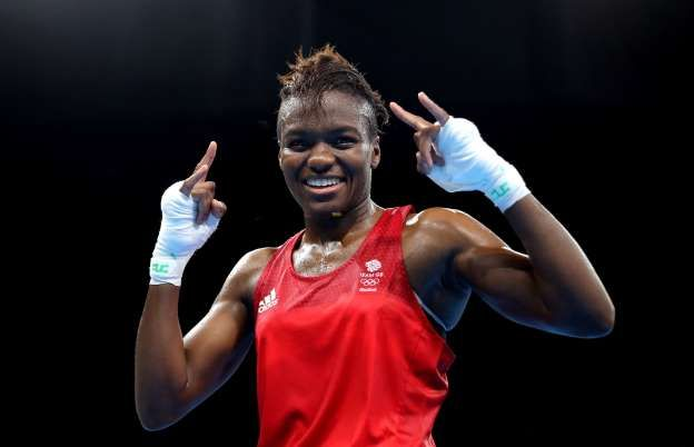 Nicola Adams celebrates victory over France's Sarah Ourahmoune in the women's flyweight final: Rio Olympic Games 2016 - Day Fifteen