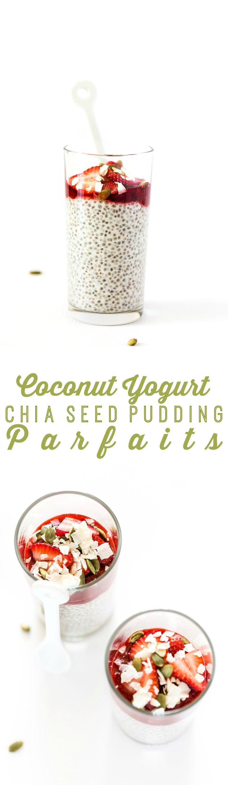 Coconut Yogurt Chia Seed Pudding Parfaits with 15-Minute Strawberry Jam | A simple yet luxurious + nourishing breakfast!