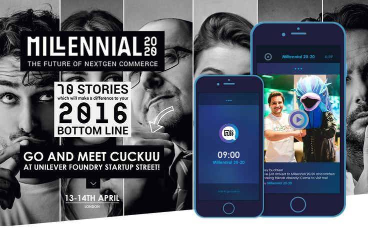 Birdies I'm going to Millennial 20/20 in London! ✨  Out of thousands of submissions Unilever chose 35 startups to pioneer the future of marketing and Cuckuu is one of them. Visit the website and find out more  http://millennial20-20.com/