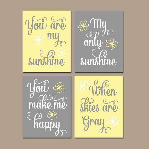 Hey, I found this really awesome Etsy listing at https://www.etsy.com/listing/113732015/girl-yellow-gray-nursery-you-are-my
