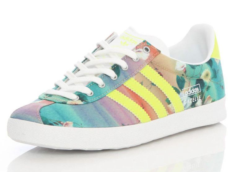 Adidas Originals Womens Gazelle OG Farm Floral Canvas Trainers UK Sizes 4 to 7.5