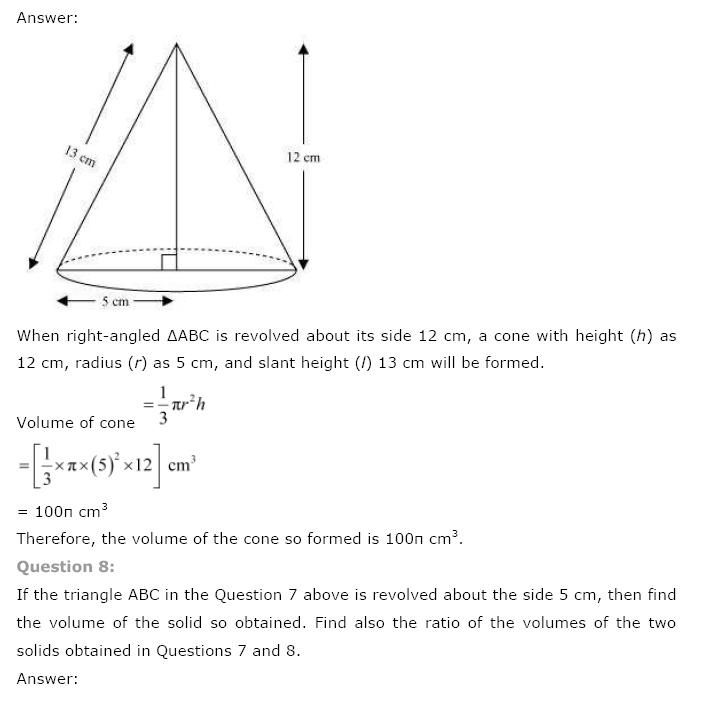 NCERT Solutions For Class 9th Maths: Chapter 13 Surface