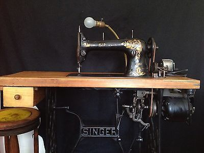 Singer Antique Industrial Sewing Machine Model 3115 Complete Wstand Motor | Sewing Machines