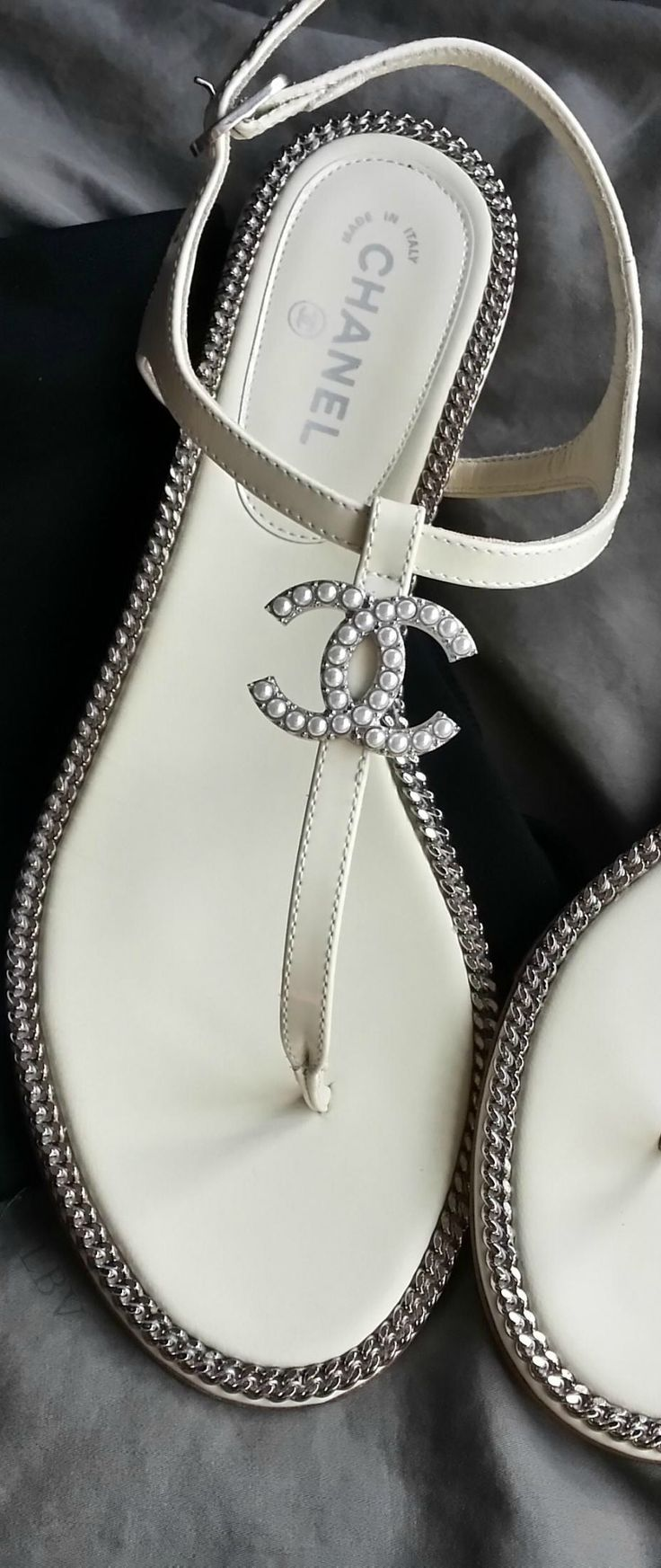 "Chanel Sandals - ""Surely I am your Lord, therefore put off your shoes;surely you are in the holy valley, Tuwa,"" Surah Taha, 12  #RePin by Dostinja - WTF IS FASHION featuring my thoughts, inspirations & personal style -> http://www.wtfisfashion.com/"