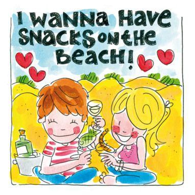 Verliefd koppel picknickt op het strand- Greetz