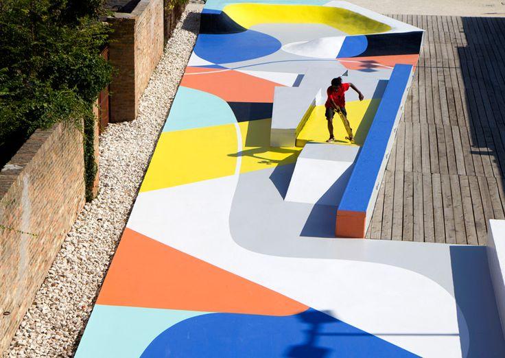 gue transforms ravenna skatepark into a multi-sensory experience