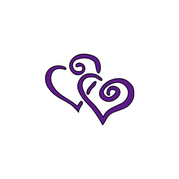 Purple Hearts Wedding Purple Hearts clip art...